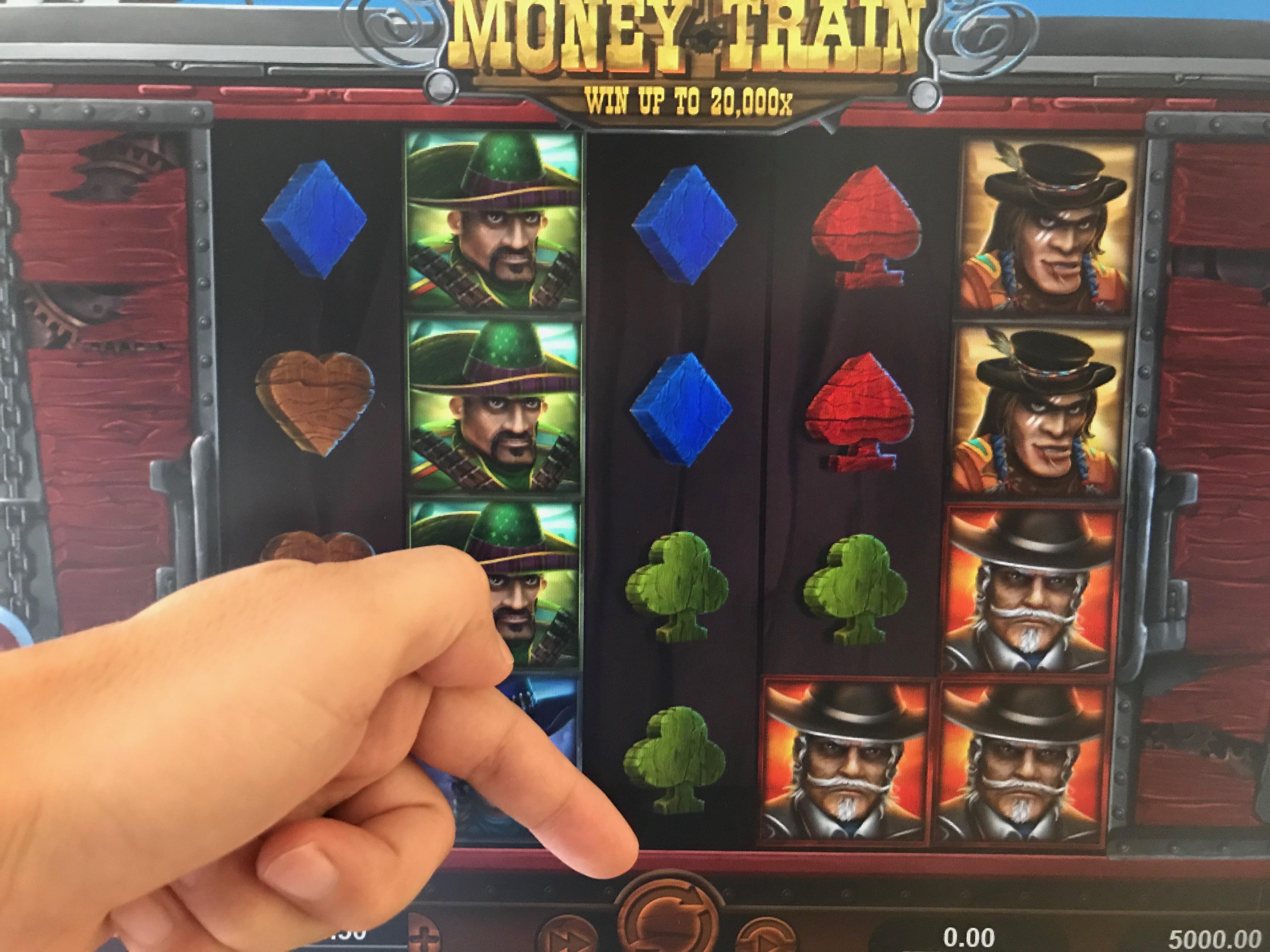 Money Trainのスピンボタン